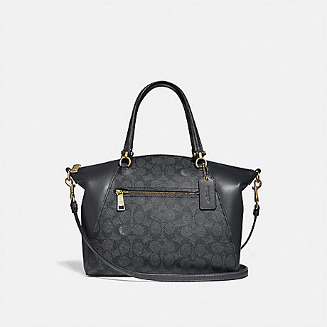 COACH 31666 PRAIRIE SATCHEL IN SIGNATURE CANVAS CHARCOAL/MIDNIGHT-NAVY/LIGHT-GOLD