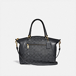 COACH 31666 - PRAIRIE SATCHEL IN SIGNATURE CANVAS CHARCOAL/MIDNIGHT NAVY/LIGHT GOLD