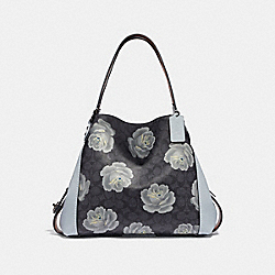 COACH 31699 Edie Shoulder Bag 31 In Signature Rose Print DK/CHARCOAL SKY