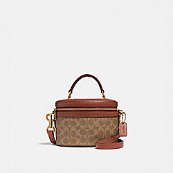 COACH 31728 - TRAIL BAG IN SIGNATURE CANVAS RUST/BRASS