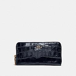 COACH 31856 Accordion Zip Wallet LI/MIDNIGHT NAVY