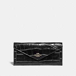 SOFT WALLET - 31857 - GOLD/BLACK
