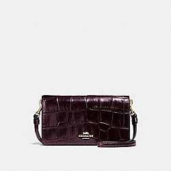 COACH 31858 - SLIM PHONE CROSSBODY PLUM/LIGHT GOLD
