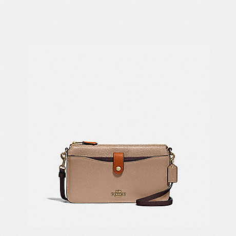 COACH 31864 NOA POP-UP MESSENGER IN COLORBLOCK B4/TAUPE GINGER MULTI