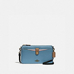 COACH 31864 - NOA POP-UP MESSENGER IN COLORBLOCK BRASS/PACIFIC BLUE MULTI