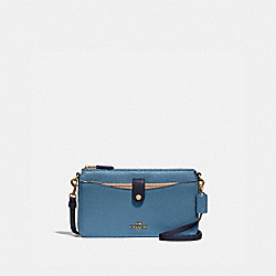 COACH 31864 - NOA POP-UP MESSENGER IN COLORBLOCK BRASS/LAKE MULTI
