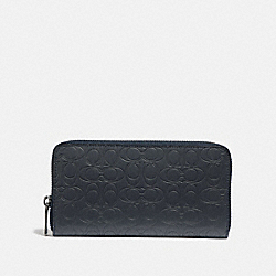 COACH 32033 Accordion Wallet In Signature Leather MIDNIGHT