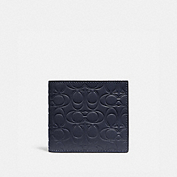 DOUBLE BILLFOLD WALLET IN SIGNATURE LEATHER - 32037 - MIDNIGHT