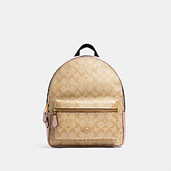 COACH 32200 - MEDIUM CHARLIE BACKPACK IN SIGNATURE CANVAS IM/LIGHT KHAKI BLOSSOM