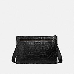 COACH 32219 Manhattan Convertible Slim Messenger In Signature Leather QB/BLACK