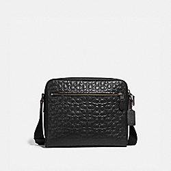 COACH 32220 Metropolitan Camera Bag In Signature Leather BLACK/BLACK ANTIQUE NICKEL