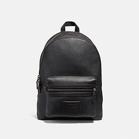 COACH 32235 ACADEMY BACKPACK BLACK/BLACK COPPER FINISH