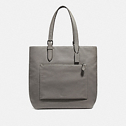 METROPOLITAN SOFT TOTE - 32248 - HEATHER GREY/BLACK ANTIQUE NICKEL