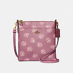 COACH 32454 - KITT MESSENGER CROSSBODY WITH ROSE PRINT ROSE ROSE PRINT/BRASS