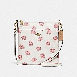 COACH 32454 - KITT MESSENGER CROSSBODY WITH ROSE PRINT CHALK ROSE PRINT/LIGHT GOLD