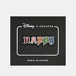 COACH 32515 - DISNEY X COACH HAPPY STICKER BLACK MULTI