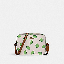 MINI CAMERA BAG WITH LIME PRINT - 3271 - IM/CHALK GREEN MULTI