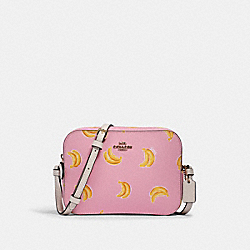 MINI CAMERA BAG WITH BANANA PRINT - 3275 - IM/PINK LEMONADE MULTI
