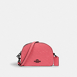 MINI SERENA CROSSBODY IN SIGNATURE LEATHER - 3278 - QB/PINK LEMONADE
