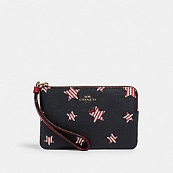CORNER ZIP WRISTLET WITH AMERICANA STAR PRINT - 3286 - IM/NAVY/ RED MULTI