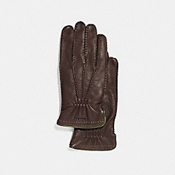 COACH 33086 - DEERSKIN GLOVES MAHOGANY GREEN