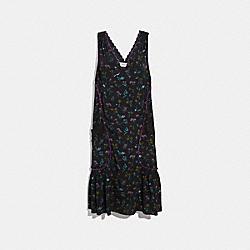 COACH 33131 - WILDFLOWER PRINT BOW DRESS BLACK MULTI