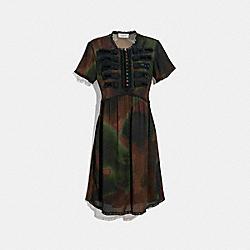 COACH 33265 - TIE DYE PRINT MILITARY DRESS BROWN/GREEN