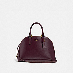 COACH 33404 Quinn Satchel LI/OXBLOOD