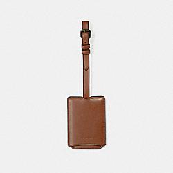 COACH 33700 Luggage Tag SADDLE