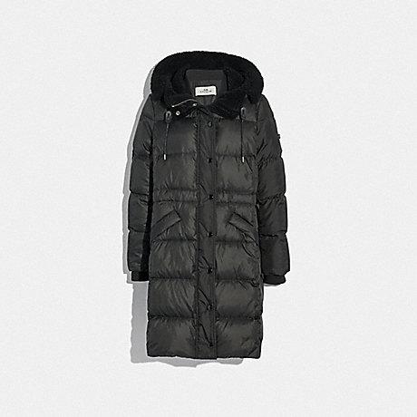 COACH 34128 LONG PUFFER BLACK
