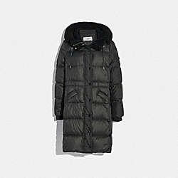 COACH 34128 Long Puffer BLACK