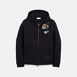 COACH 34210 - DISNEY X COACH HAPPY HOODIE BLACK