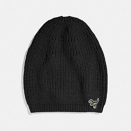 COACH KNIT REXY HAT - BLACK - 34258