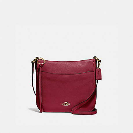 COACH 35543 CHAISE CROSSBODY GOLD/DEEP-RED