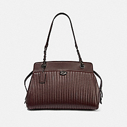 PARKER CARRYALL WITH QUILTING - 35576 - GM/OXBLOOD