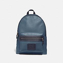 COACH 35604 Academy Backpack DENIM/BLACK COPPER FINISH
