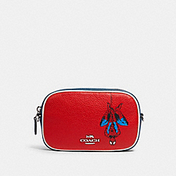 COACH │ MARVEL CONVERTIBLE BELT BAG WITH SPIDER-MAN - 3563 - SV/MIAMI RED MULTI