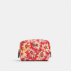 COACH 3589 Mini Boxy Cosmetic Case With Vintage Daisy Script Print IM/PINK MULTI