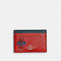 COACH 3597 Coach │ Marvel Card Case With Spider-man SV/MIAMI RED MULTI