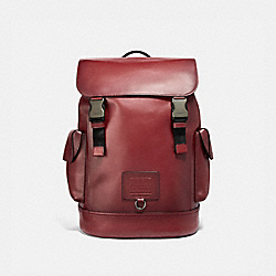 COACH 36080 - RIVINGTON BACKPACK RED CURRANT/BLACK COPPER FINISH