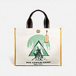 TOTE 40 WITH BIG APPLE CAMP PRINT - 3677 - B4/CHALK