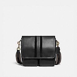 MAP BAG WITH VARSITY STRIPE - 3681 - OL/BLACK