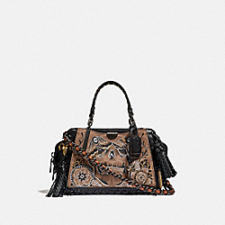 COACH 36840 Dreamer 21 In Signature Canvas With Tattoo BP/TAN BLACK