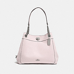 COACH 36855 - TURNLOCK EDIE SHOULDER BAG SV/ICE PINK