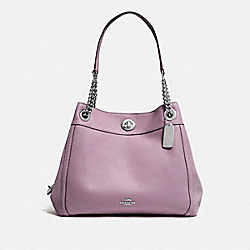 COACH 36855 Turnlock Edie Shoulder Bag SV/JASMINE