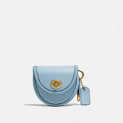 SADDLE BAG CHARM - B4/WATERFALL - COACH 3727