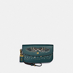 COACH 37370 - CLUTCH WITH TATTOO EVERGREEN/BRASS