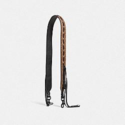 COACH 37464 Strap In Signature Canvas With Whipstitch TAN BLACK/BLACK COPPER