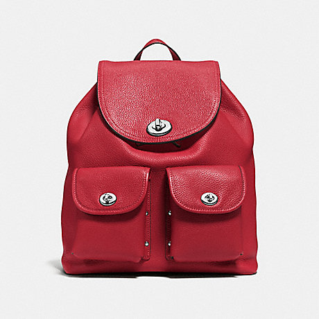 COACH 37582 TURNLOCK RUCKSACK RED CURRANT/SILVER