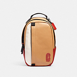 EDGE PACK IN COLORBLOCK WITH COACH PATCH - 3766 - QB/LATTE MULTI